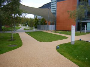resin bound paving vodafone HQ