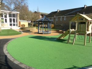 Playsafe® coloured rubber playground safety surfacing