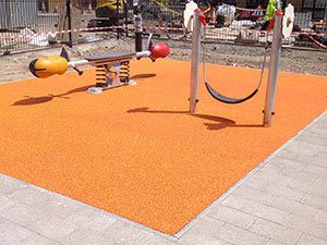 Playsafe® rubber playground safety surfacing