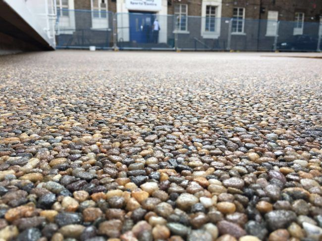 Tottenham Community Centre Resin Paving