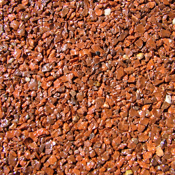 Red Granite Resin Bound Paving Blend