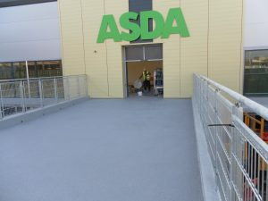 Tripave slip resistant MMA surfacing