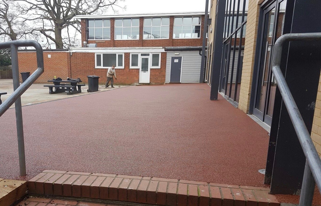 Queen Elizabeths School Barnet Resin Paving